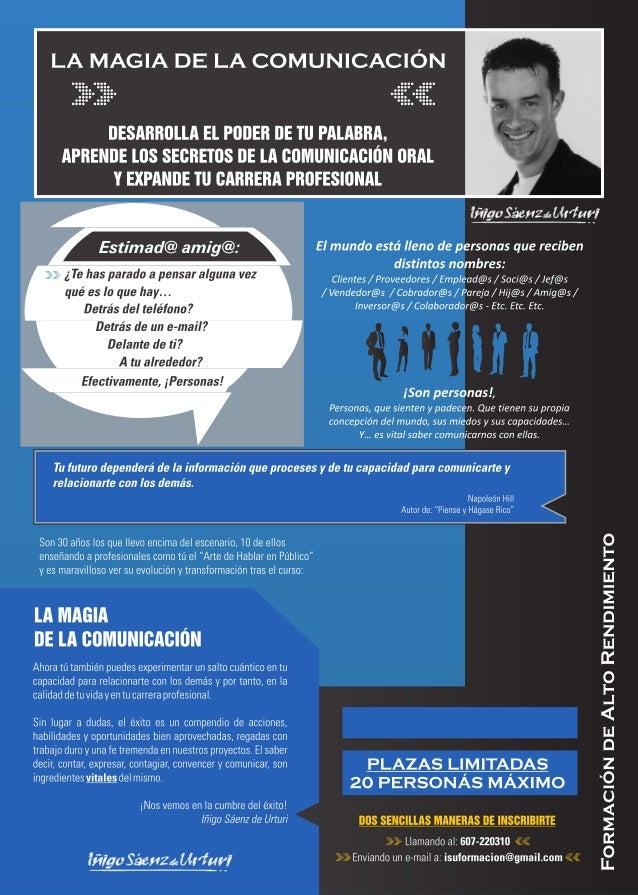 La Magia de la Comunicación. Iñigo Sáenz de Urturi