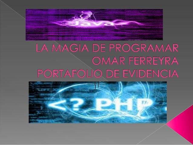  https://www.facebook.com/pages/La- magia-de-Programar/  http://ferreyra1701.wix.com/lamagiadep rogramar  https://twitt...