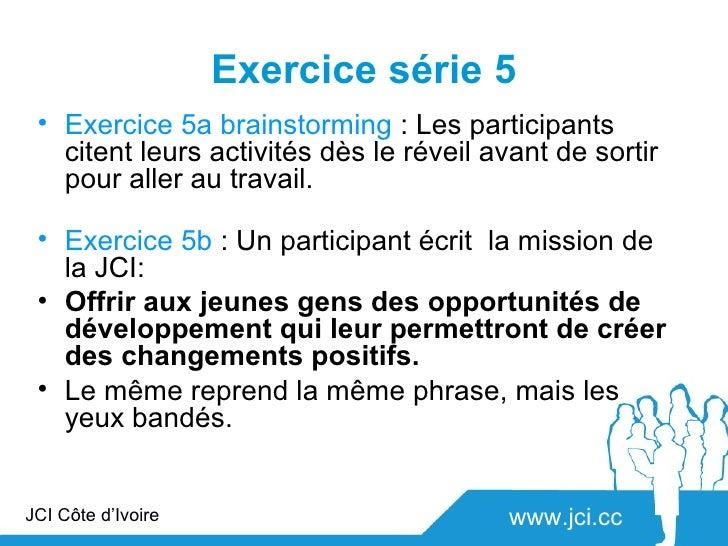 Exercice série 5 • Exercice 5a brainstorming : Les participants   citent leurs activités dès le réveil avant de sortir   p...