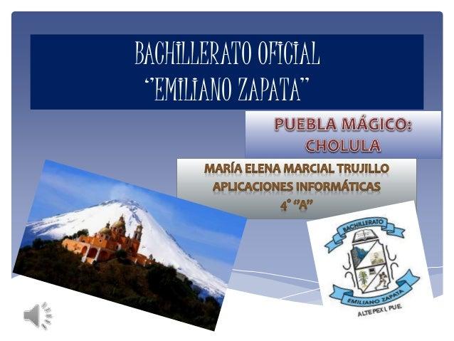 BACHILLERATO OFICIAL ''EMILIANO ZAPATA''