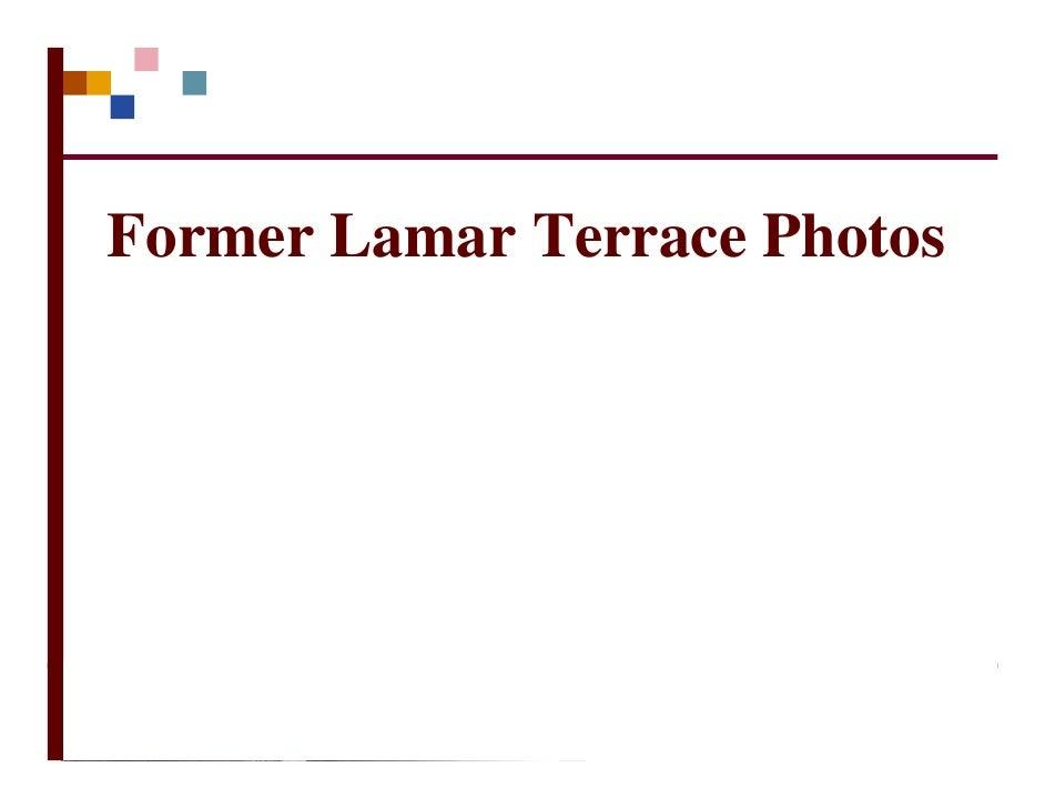 Former Lamar Terrace Photos