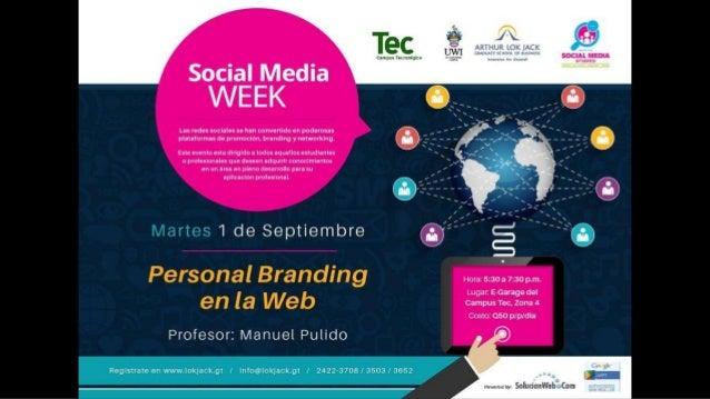 La marca personal Manuel Pulido Mendoza | @manuelpm