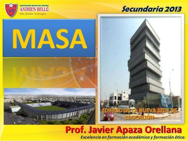 MASA Prof. Javier Apaza Orellana