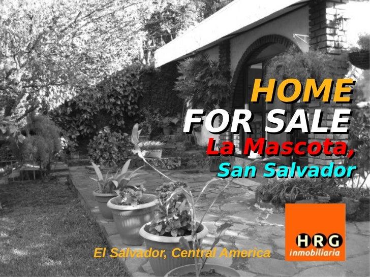 Home for sale casa en venta la mascota el salvador - La casa de la mascota ...