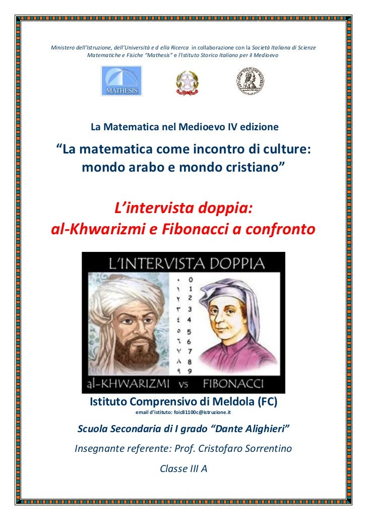 Ministero dell'Istruzione, dell'Università e d ella Ricerca in collaborazione con la Società Italiana di Scienze          ...