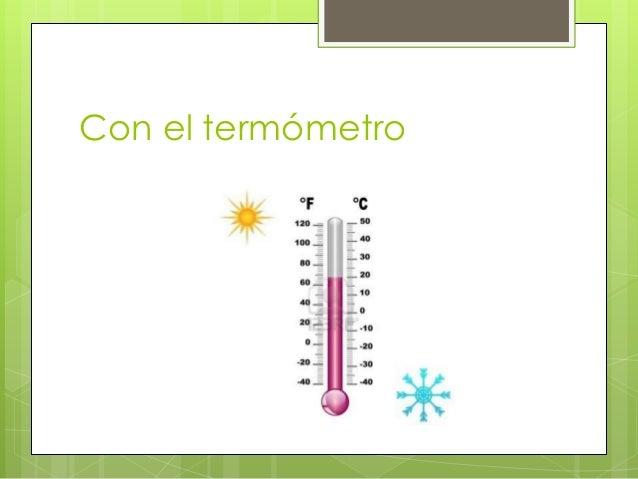 Con el termómetro