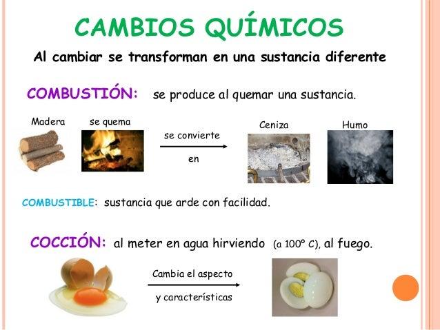 La materia 3 for Cambios quimicos en la cocina