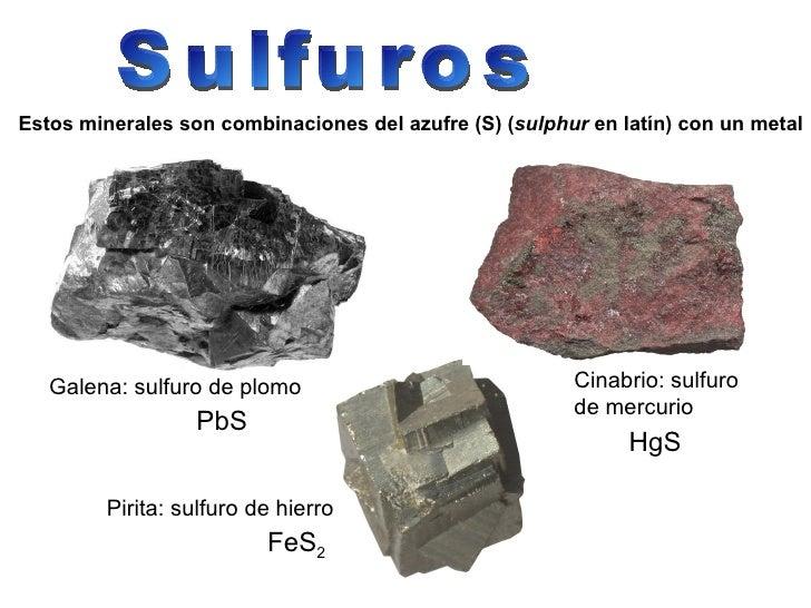 Resultado de imagen para minerales y sus fórmulas