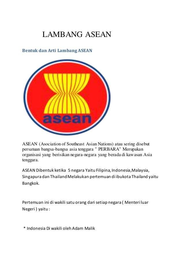 Lambang Asean Bentuk Arti Asociation Southeast Asian Nations Gambar Peta