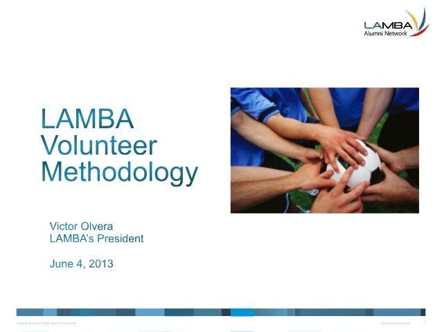 Latin American MBA Alumni Network www.lambanet.ca 1