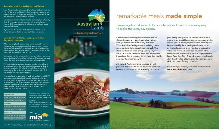 Australian lamb for vitality and well beingLean Australian lamb is packed full of essential nutrients foryour vitality and...