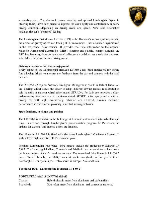 lamborghini huracan lp580 2 press release. Black Bedroom Furniture Sets. Home Design Ideas