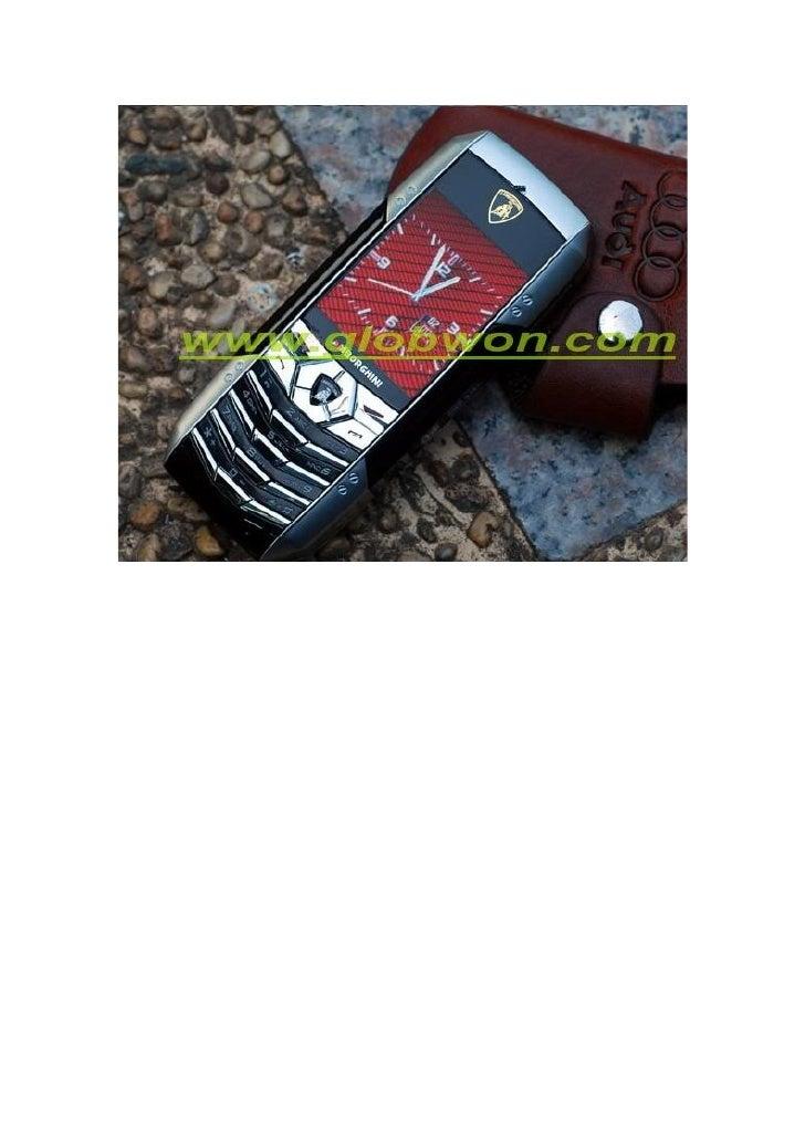 Lamborghini Luxe F8 TéLéPhone Cellulaire Mobile Slide 2