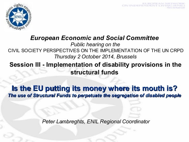 European Economic and Social Committee  Public hearing on the  CIVIL SOCIETY PERSPECTIVES ON THE IMPLEMENTATION OF THE UN ...