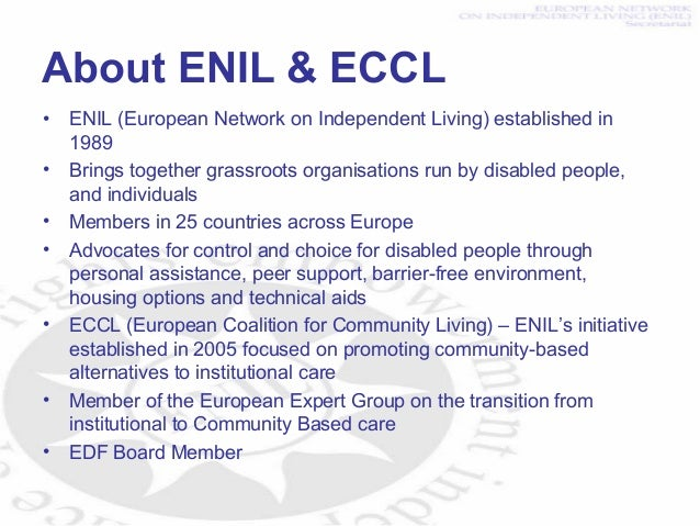 Is the EU putting its money where its mouth is? The use of Structural Funds to perpetuate the segregation of disabled people Slide 3