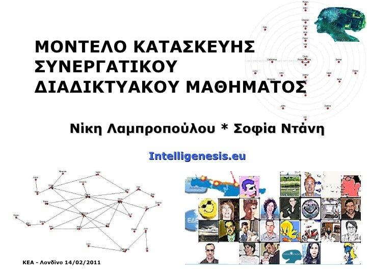 ΜΟΝΤΕΛΟ ΚΑΤΑΣΚΕΥΗΣ ΣΥΝΕΡΓΑΤΙΚΟΥ ΔΙΑΔΙΚΤΥΑΚΟΥ ΜΑΘΗΜΑΤΟΣ Νίκη Λαμπροπούλου  *  Σοφία Ντάνη Intelligenesis.eu