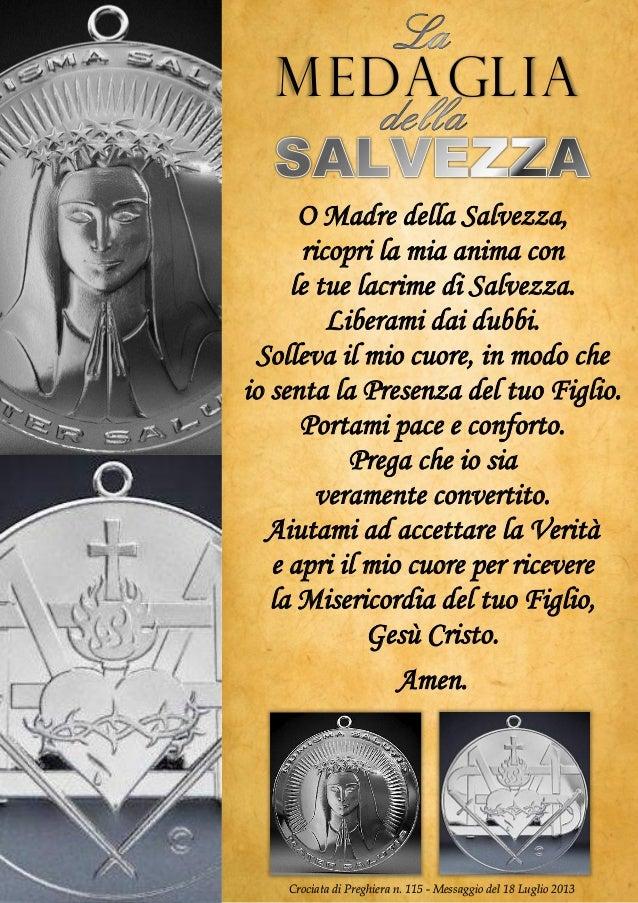 O Madre della Salvezza, ricopri la mia anima con le tue lacrime di Salvezza. Liberami dai dubbi. Solleva il mio cuore, in ...