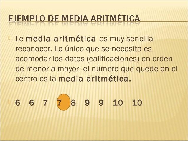 La Media Aritm 233 Tica Y La Mediana