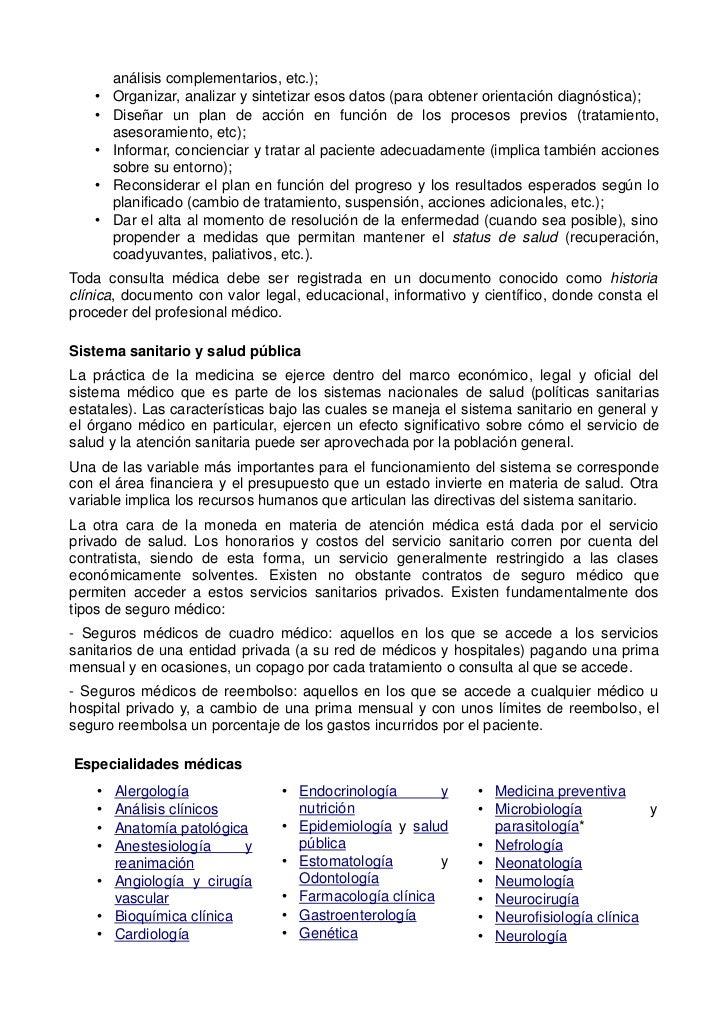 análisis complementarios, etc.);    •   Organizar, analizar y sintetizar esos datos (para obtener orientación diagnóstica)...