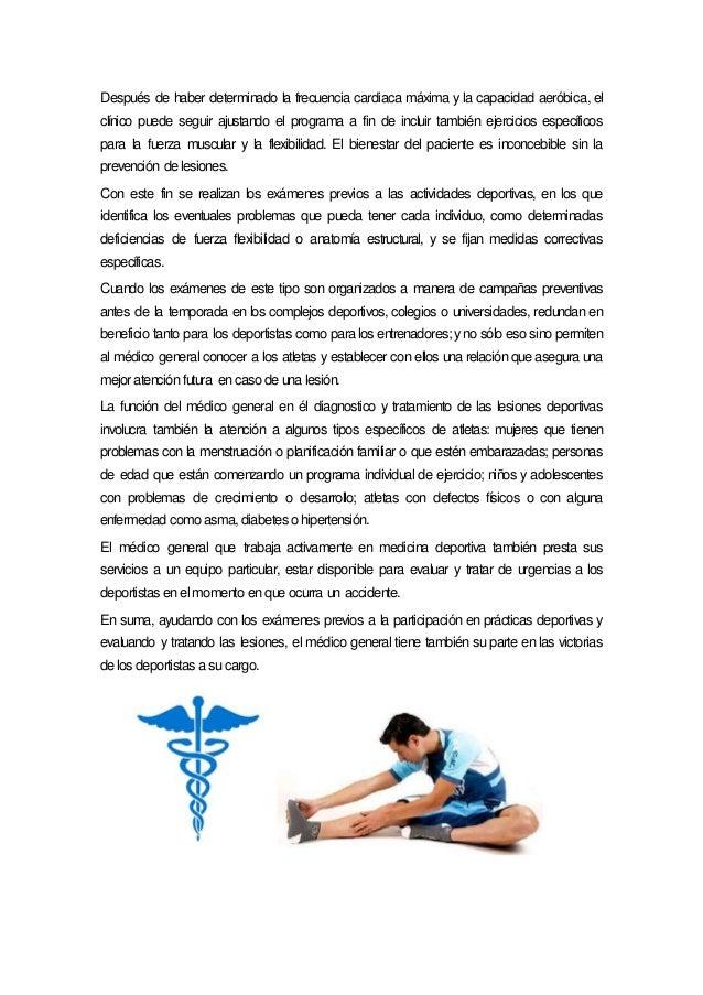 La medicina en el deporte