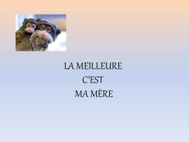 LA MEILLEURE C'EST MA MÈRE