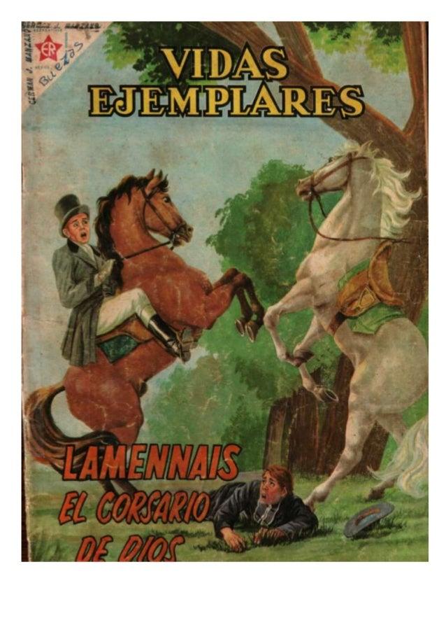 Vidas ejemplares Lamennais el corsario de Dios, revista completa, 01 marzo 1961 Novaro, ...