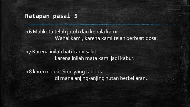 """Doa """"Lament"""" 1. Let your tears down.. finding """"why"""" and """"how"""" (even when there is no answer…) 2. Permohonan kepadaTuhan 3...."""