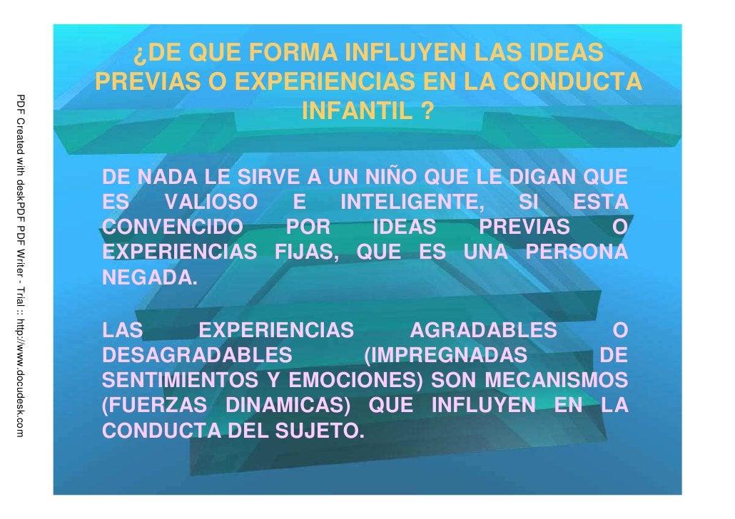 ¿DE QUE FORMA INFLUYEN LAS IDEAS                                                                         PREVIAS O EXPERIE...