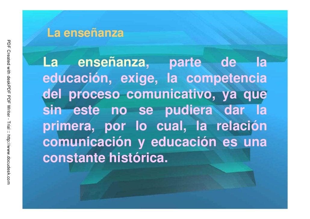 La enseñanzaPDF Created with deskPDF PDF Writer - Trial :: http://www.docudesk.com                                        ...