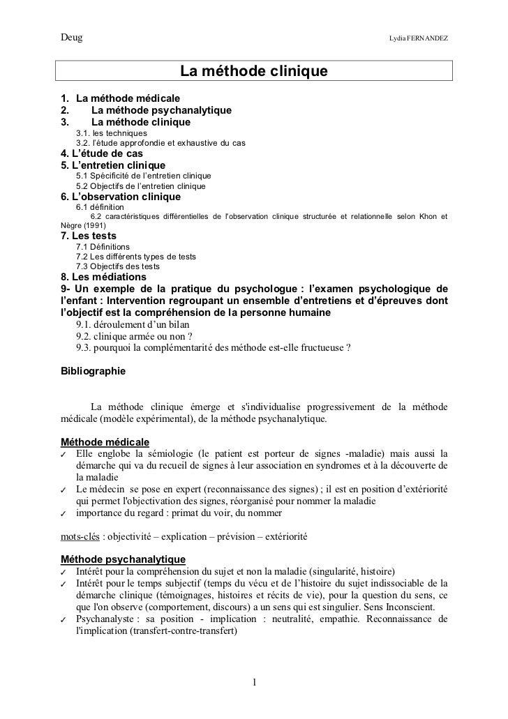La methode clinique - Grille d entretien semi directif exemple ...