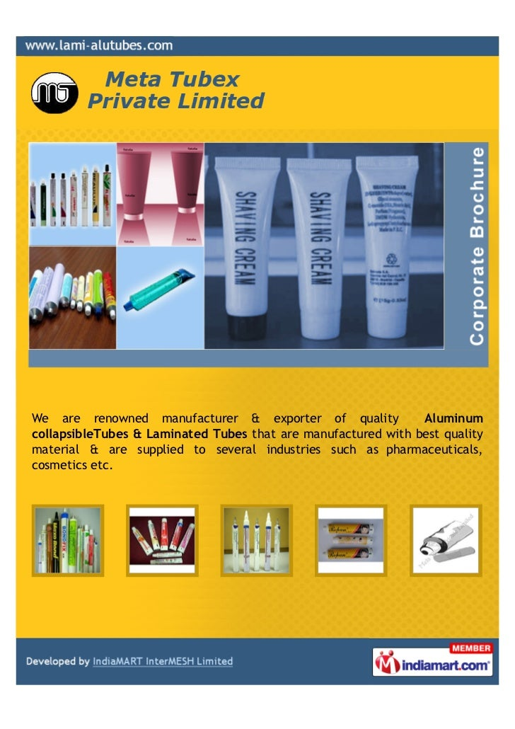 We are renowned manufacturer & exporter of quality             AluminumcollapsibleTubes & Laminated Tubes that are manufac...
