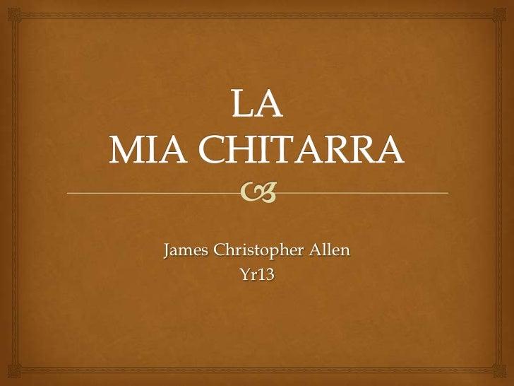 James Christopher Allen         Yr13