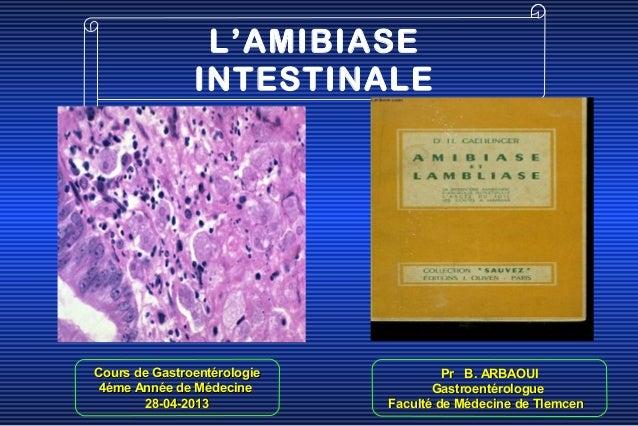 Cours de GastroentérologieCours de Gastroentérologie4éme Année de Médecine4éme Année de Médecine28-04-201328-04-2013Pr B. ...