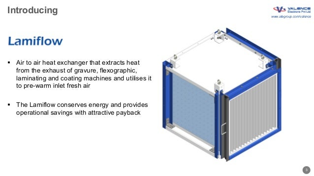 Valence Lamiflow air-to-air heat exchanger Slide 3