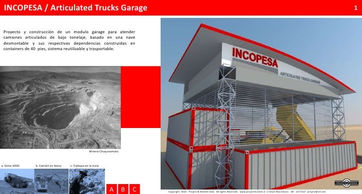 INCOPESA / Articulated Trucks Garage                                                                                      ...