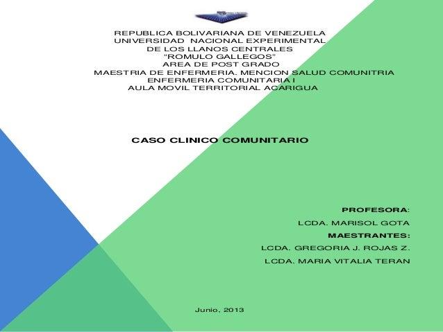 """REPUBLICA BOLIVARIANA DE VENEZUELA UNIVERSIDAD NACIONAL EXPERIMENTAL DE LOS LLANOS CENTRALES """"ROMULO GALLEGOS"""" AREA DE POS..."""