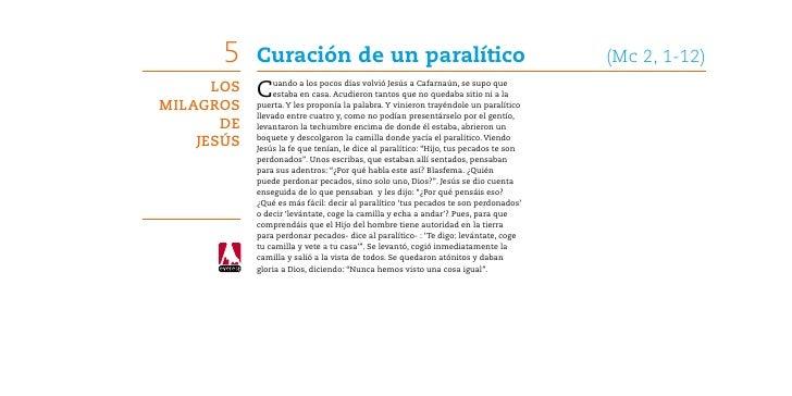 5    Curación de un paralítico                                                 (Mc 2, 1-12)      Los   C    uando a los p...