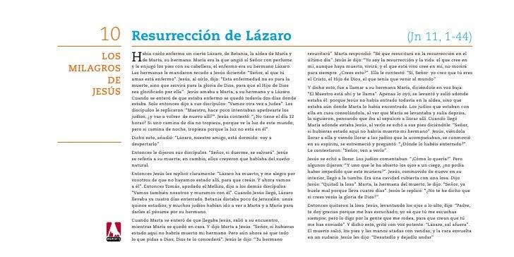 10     Resurrección de Lázaro                                                                                            ...