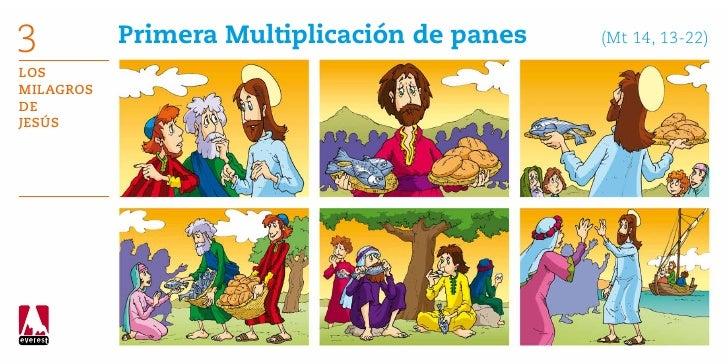 3          Primera Multiplicación de panes    (Mt 14, 13-22)LosMilagrosdeJesús