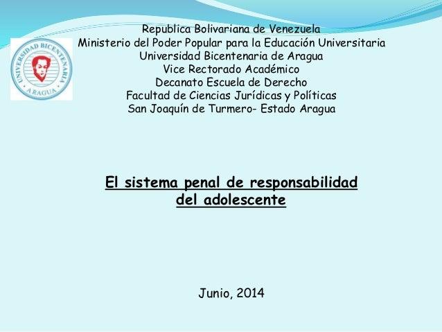 Republica Bolivariana de Venezuela Ministerio del Poder Popular para la Educación Universitaria Universidad Bicentenaria d...