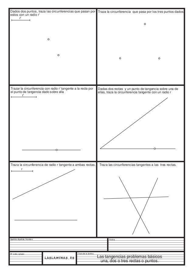 Dados dos puntos, traza las circunferencias que pasan por Traza la circunferencia que pasa por los tres puntos dados. esto...