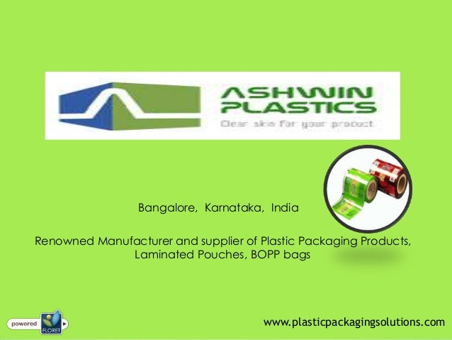 Bangalore, Karnataka, IndiaRenowned Manufacturer and supplier of Plastic Packaging Products,Laminated Pouches, BOPP bagsww...
