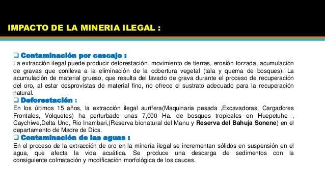 La Mineria E Ilegal