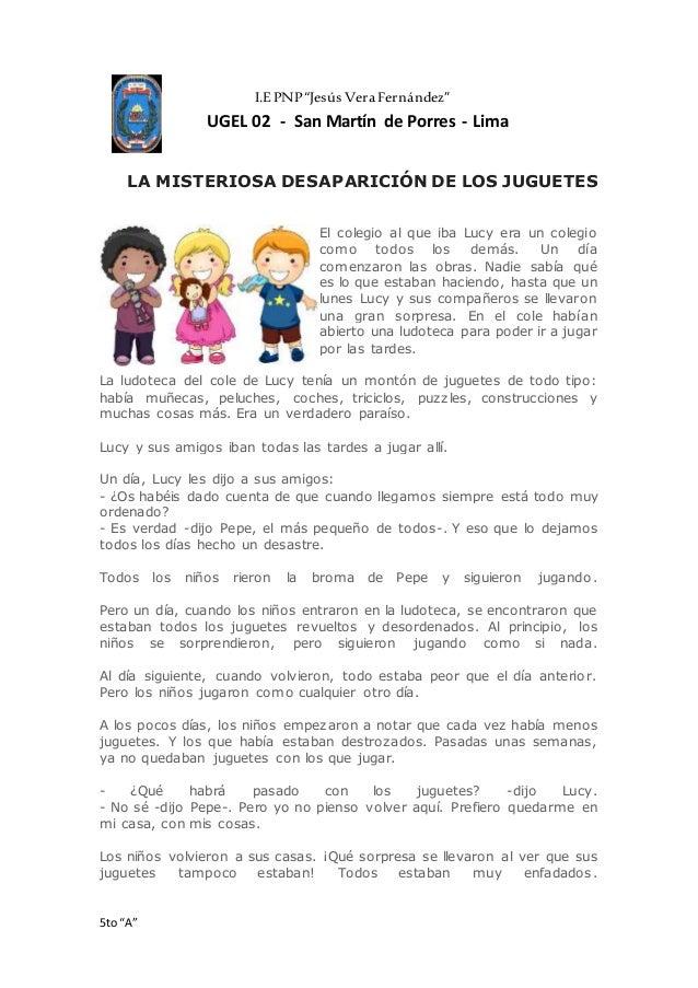 De Juguetes Misteriosa La Desaparición Los Cuento CoeWxdBQr