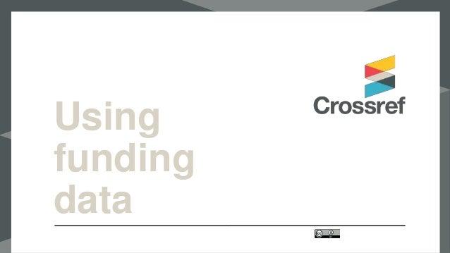 Using funding data