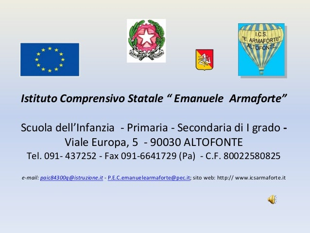 "IstitutoComprensivoStatale"" EmanueleArmaforte""Scuoladell'Infanzia‐ Primaria‐ SecondariadiIgrado ‐        Viale..."