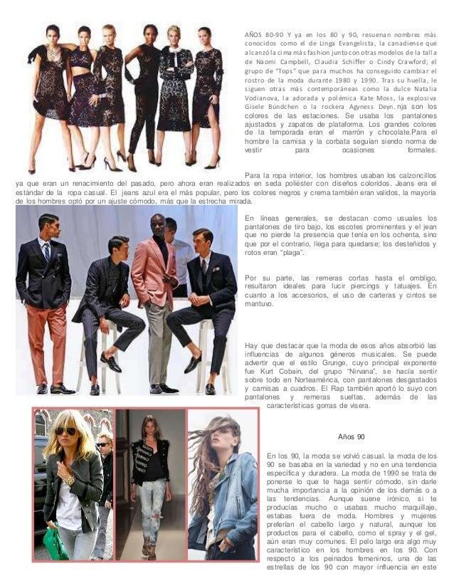 La Moda En Los Anos 90