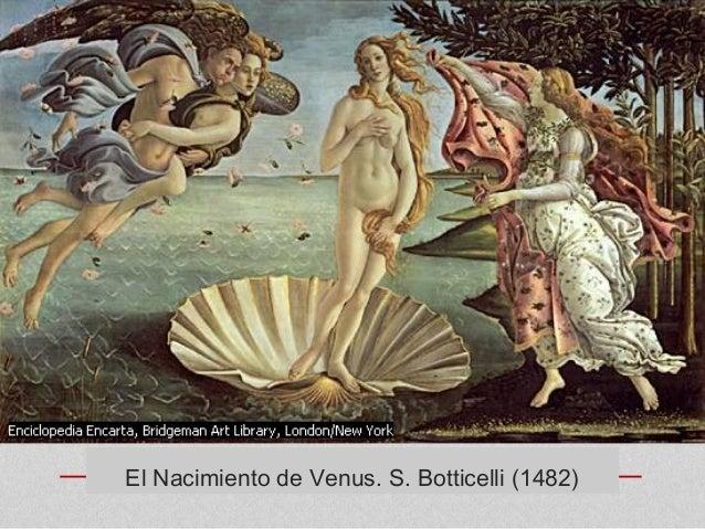 El Nacimiento de Venus. S. Botticelli (1482)