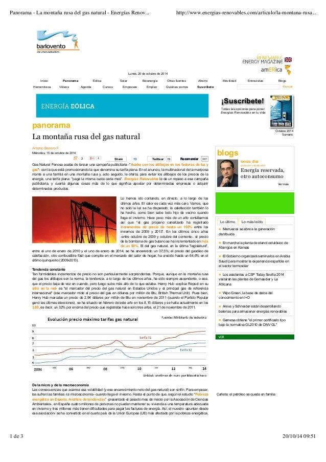 Panorama - La montaña rusa del gas natural - Energías Renov... http://www.energias-renovables.com/articulo/la-montana-rusa...