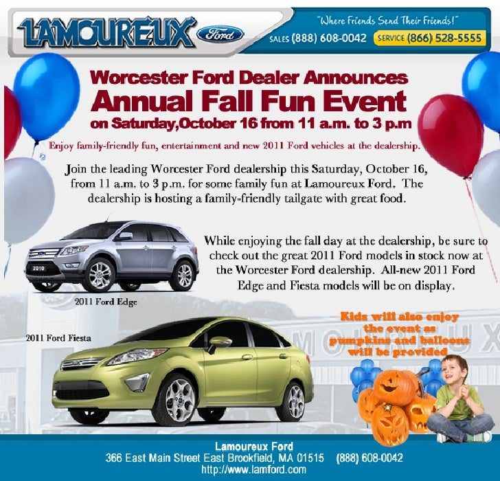 Fun with Ford and Friends at Lamoureux Ford Worcester MA